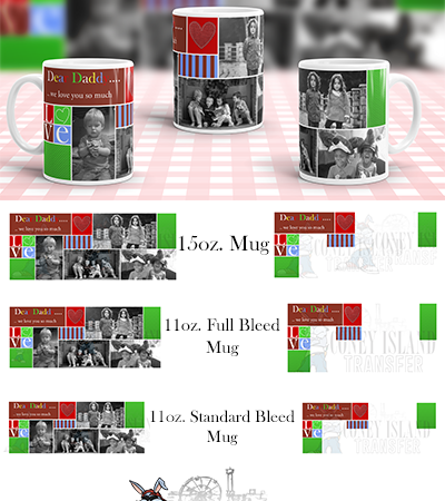 daddy we love you Sublimation Mug Template