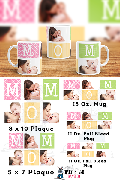mom collage sublimation template