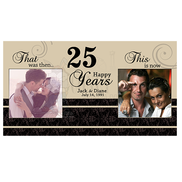 25th Anniversary Picture Frames Then And Now Picture Frame Ideas
