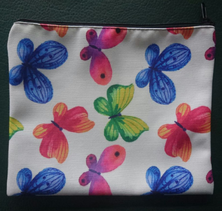 zippered cosmetic bag