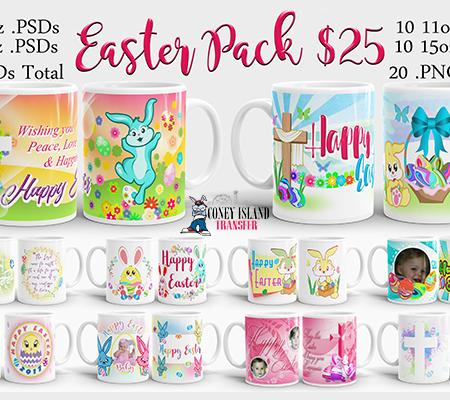 Easter Mug Template
