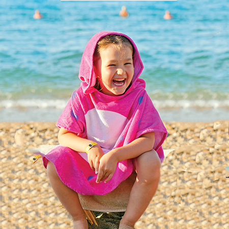 Childrens Hooded Beach Poncho